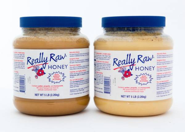 2 – 5 lb. Plastic Jars of Really Raw Honey