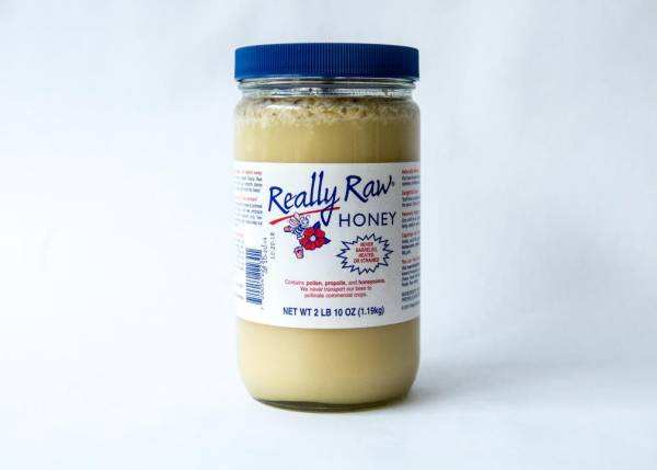 2 lb. - 10 oz. Plastic Jar of Fermented Really Raw Honey